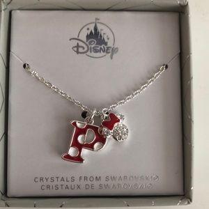 Minnie Mouse Swarovski crystals necklace